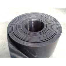 Rubber Floor - Fine Rib Matting 3mm Thick 1.2m wide